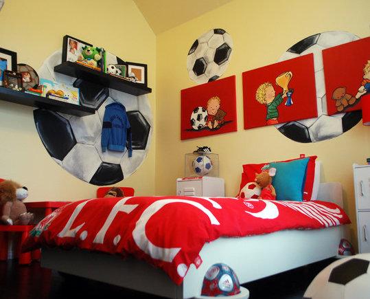 Фотография: Детская в стиле Современный, Декор интерьера, Декор дома, Цвет в интерьере, Обои – фото на InMyRoom.ru