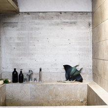 Фотография: Ванная в стиле Эко, Лофт, Декор интерьера, Декор дома, Стены – фото на InMyRoom.ru
