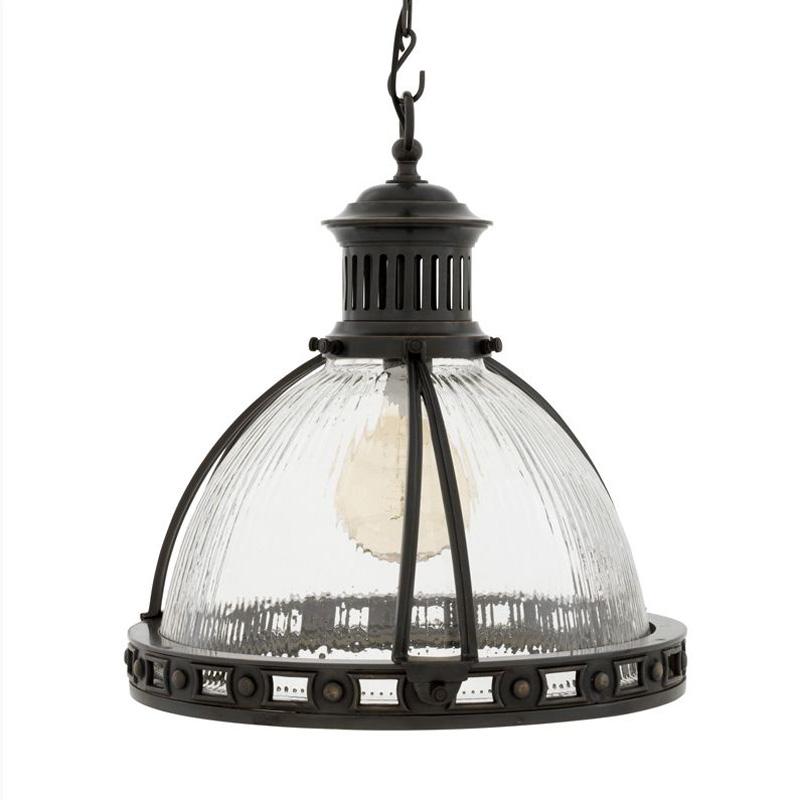 Купить со скидкой Подвесной светильник Eichholtz Conelly с плафоном из фактурного прозрачного стекла