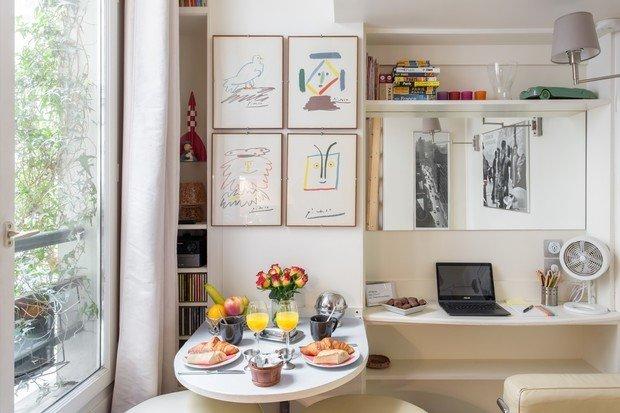 Фотография: Кухня и столовая в стиле Минимализм, Современный, Декор интерьера, Малогабаритная квартира, Квартира, Студия, 1 комната, до 40 метров, 40-60 метров – фото на INMYROOM
