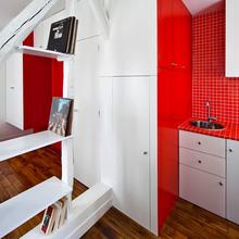 Фотография: Кухня и столовая в стиле Современный, Малогабаритная квартира, Квартира, Дома и квартиры, Париж – фото на InMyRoom.ru