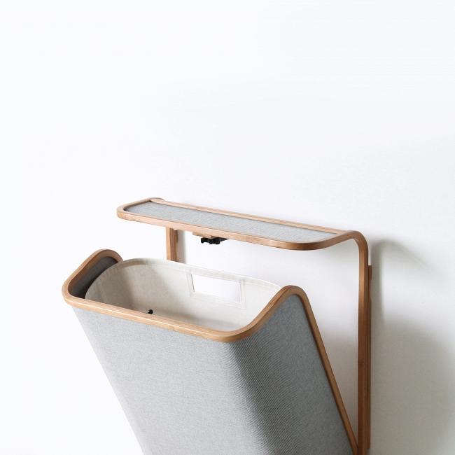 Купить Корзина для белья Clic светло-серого цвета, inmyroom, Китай