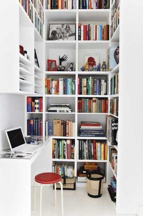 Фотография: Офис в стиле Современный, Хранение, Стиль жизни, Советы, Библиотека – фото на InMyRoom.ru
