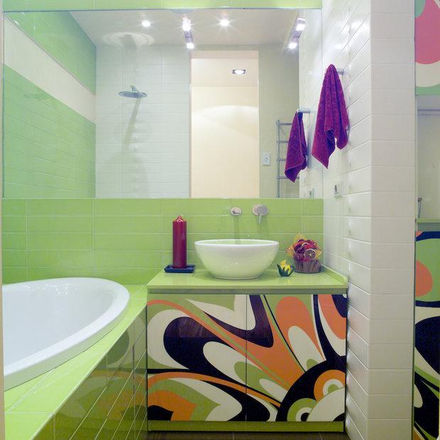 Фотография: Ванная в стиле Современный, Декор интерьера, Мебель и свет, Марат Ка – фото на InMyRoom.ru