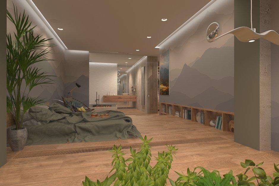 Фотография: Спальня в стиле Минимализм, Квартира, Проект недели, Москва, Эко, Монолитный дом, 2 комнаты, 60-90 метров, Анна Морозова, ЖК «Дыхание» – фото на InMyRoom.ru