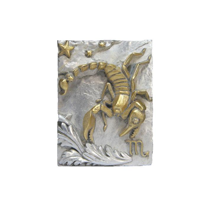 Панно Знак зодиака СКОРПИОН (серебряно-золотой)
