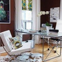 Фотография: Кабинет в стиле Современный, Декор интерьера, Интерьер комнат, Стулья, Лампы, DG Home – фото на InMyRoom.ru