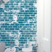 Фотография: Ванная в стиле Скандинавский, Декор интерьера, Декор дома, Обои, Стены – фото на InMyRoom.ru