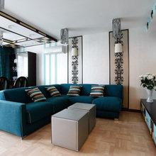 Фотография: Гостиная в стиле Современный, Классический, Квартира, Проект недели – фото на InMyRoom.ru