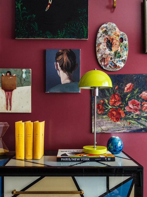 Фотография: Мебель и свет в стиле Эклектика, Квартира, Проект недели, Москва, Надя Зотова, Кирпичный дом, 2 комнаты, 40-60 метров, студия Enjoy Home – фото на INMYROOM