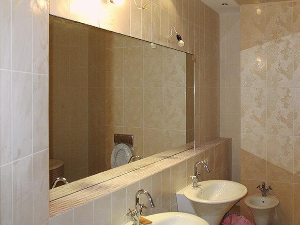 Фотография: Ванная в стиле Эклектика, Малогабаритная квартира, Интерьер комнат, Советы – фото на InMyRoom.ru