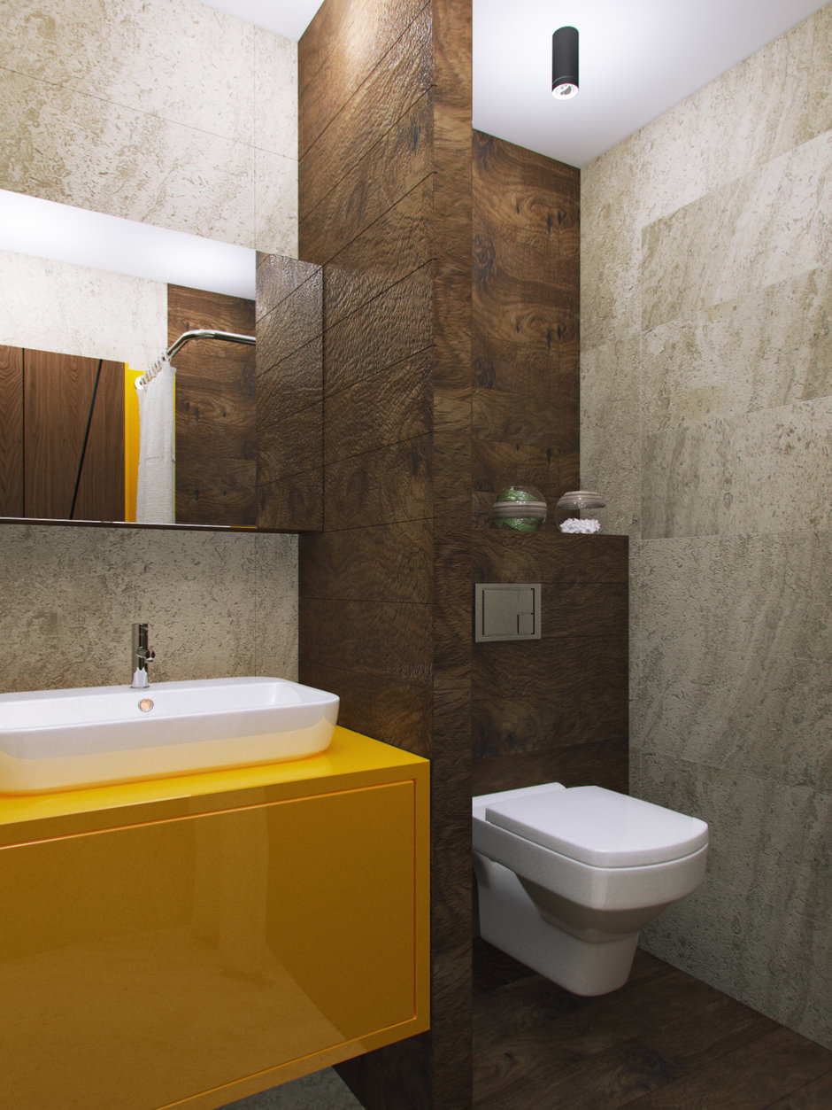 Фотография: Ванная в стиле Современный, Дом, Проект недели, Дача, Волгоград, 4 и больше, Более 90 метров, Дизайн-студия Leгко – фото на InMyRoom.ru