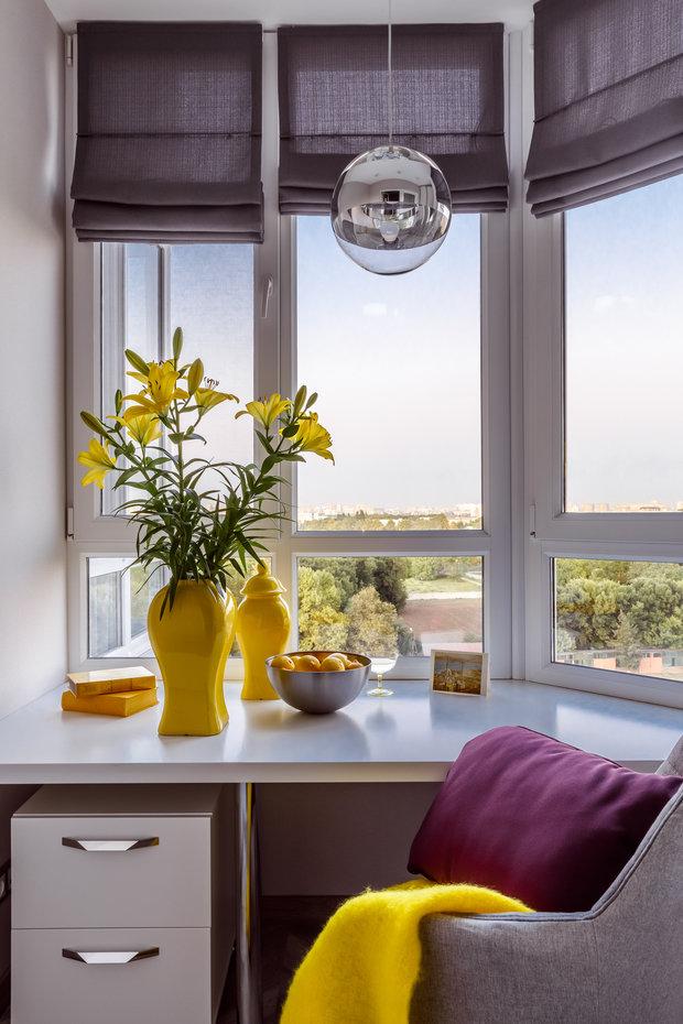 Фотография: Кабинет в стиле Современный, Квартира, Проект недели, Краснодар, 3 комнаты, Более 90 метров, Archigram, Евгения Княжева – фото на INMYROOM
