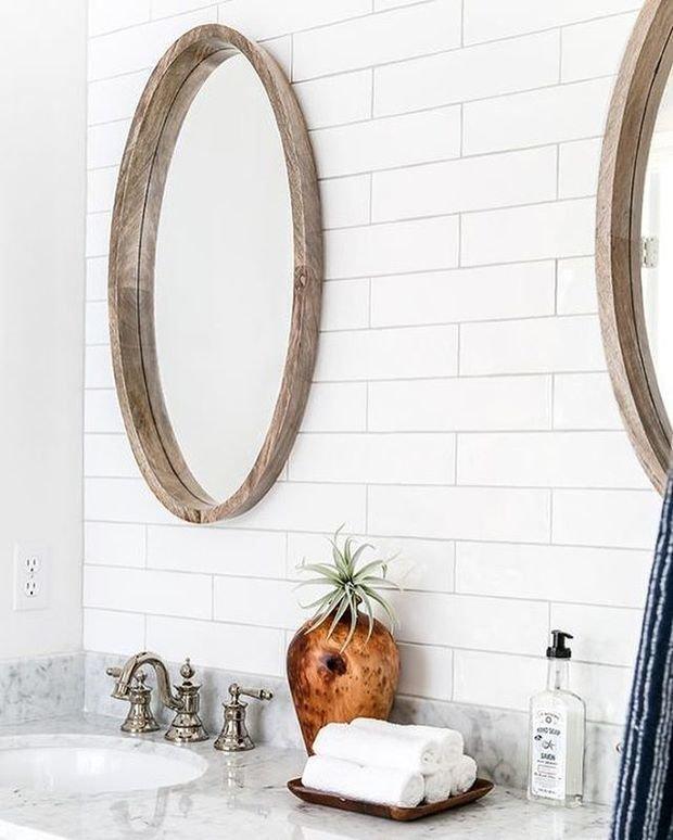 Фотография: Ванная в стиле Эко, Декор интерьера, дерево в интерьере, тренды 2019 – фото на INMYROOM