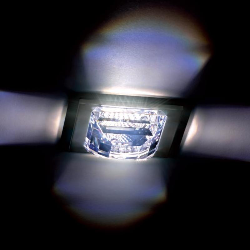 Встраиваемый светильник Swarovski Madison создает на потолке тонкую игру света