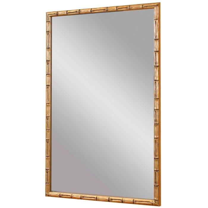 """Зеркало в узкой раме """"Золотой Бамбук"""""""