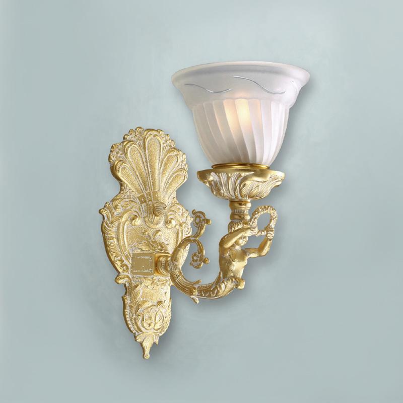 Купить Бра Raylo с плафонами из фактурного муранского стекла белого цвета, inmyroom, Испания