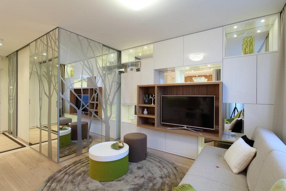 Фотография: Гостиная в стиле Современный, Малогабаритная квартира, Квартира, Дома и квартиры, Проект недели – фото на InMyRoom.ru