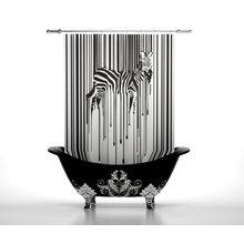 Шторки в ванну: Дизайнерская зебра