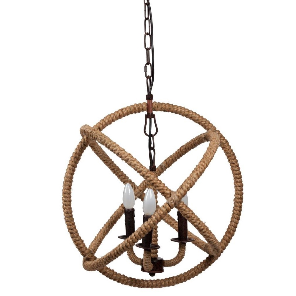 Люстра Foucault's Orb Rustic Iron с декорированным каркасом