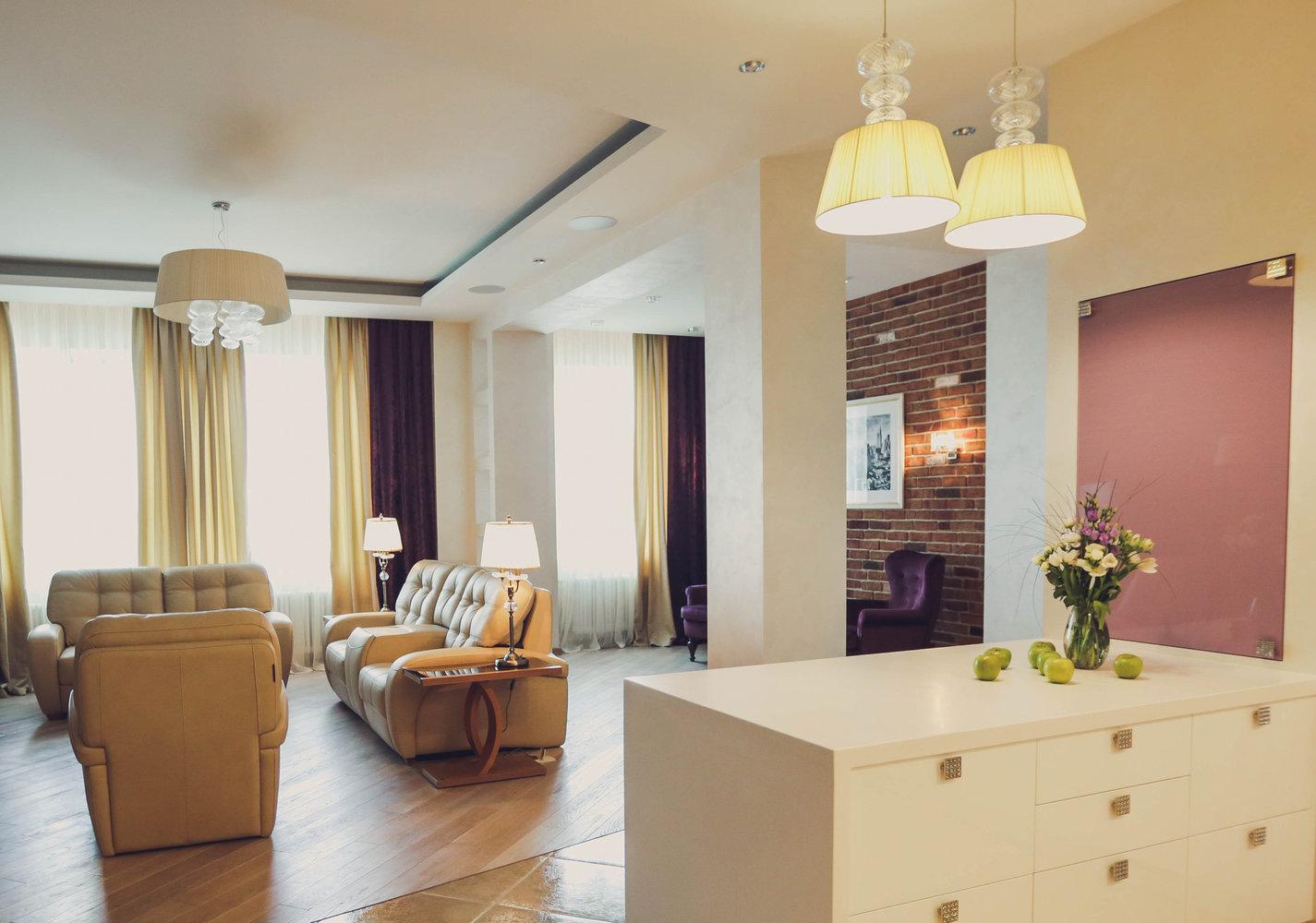 Современная гостиная в стиле лофт