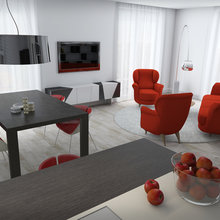 Фото из портфолио Red In White – фотографии дизайна интерьеров на INMYROOM