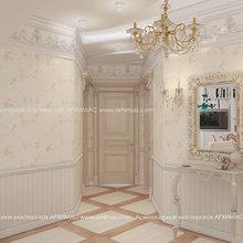 Фото из портфолио Дизайн-проект в двухкомнатной холл стиль Прованс ЖК Гранд Парк дом элит класса Одесса – фотографии дизайна интерьеров на INMYROOM