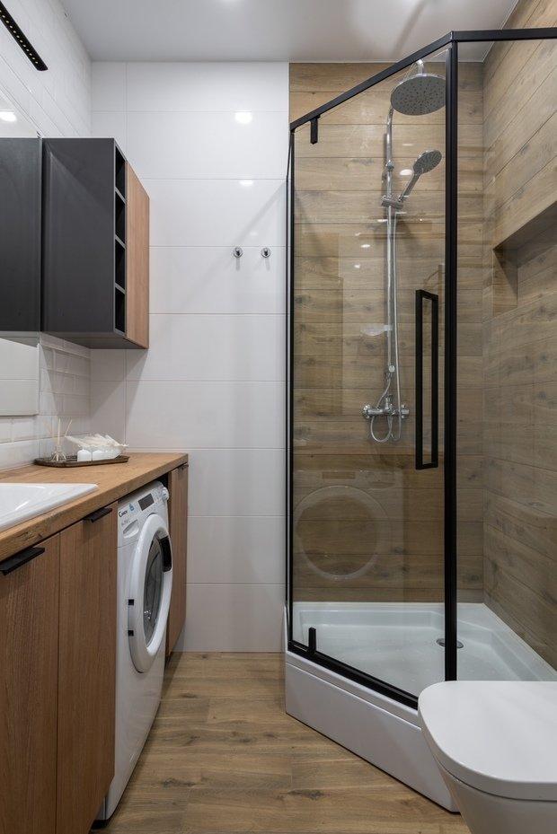 Фотография: Ванная в стиле Современный, Малогабаритная квартира, Квартира, Студия, Проект недели, Москва, Анастасия Лаппо – фото на INMYROOM
