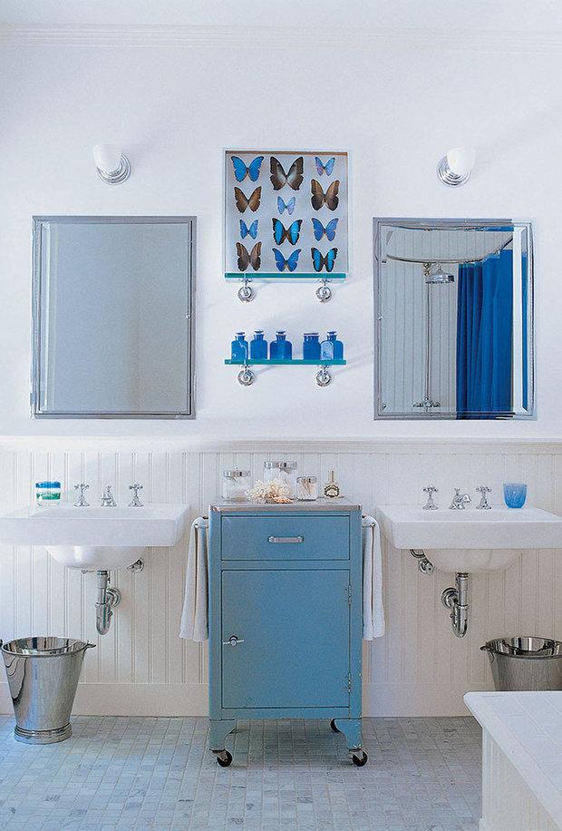 Фотография: Ванная в стиле Прованс и Кантри, Дом, Дома и квартиры, Интерьеры звезд – фото на InMyRoom.ru