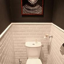 Фотография: Ванная в стиле Современный, Малогабаритная квартира, Квартира, Дома и квартиры, Переделка, Париж – фото на InMyRoom.ru