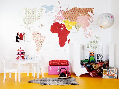 Фотография: Детская в стиле Скандинавский, Декор интерьера, Декор дома, Цвет в интерьере, Обои – фото на InMyRoom.ru