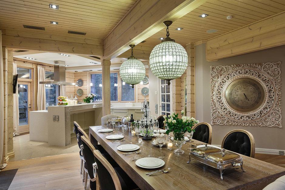 Фотография: Кухня и столовая в стиле , Классический, Дом, Дома и квартиры, Проект недели, Дача – фото на InMyRoom.ru