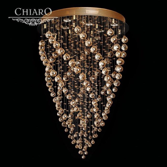 Каскадная люстра Chiaro Каскад с декоративным плафоном из стекла