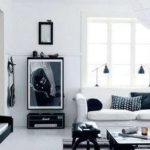 Фотография: Гостиная в стиле Скандинавский, Декор интерьера, Дизайн интерьера, Цвет в интерьере – фото на InMyRoom.ru