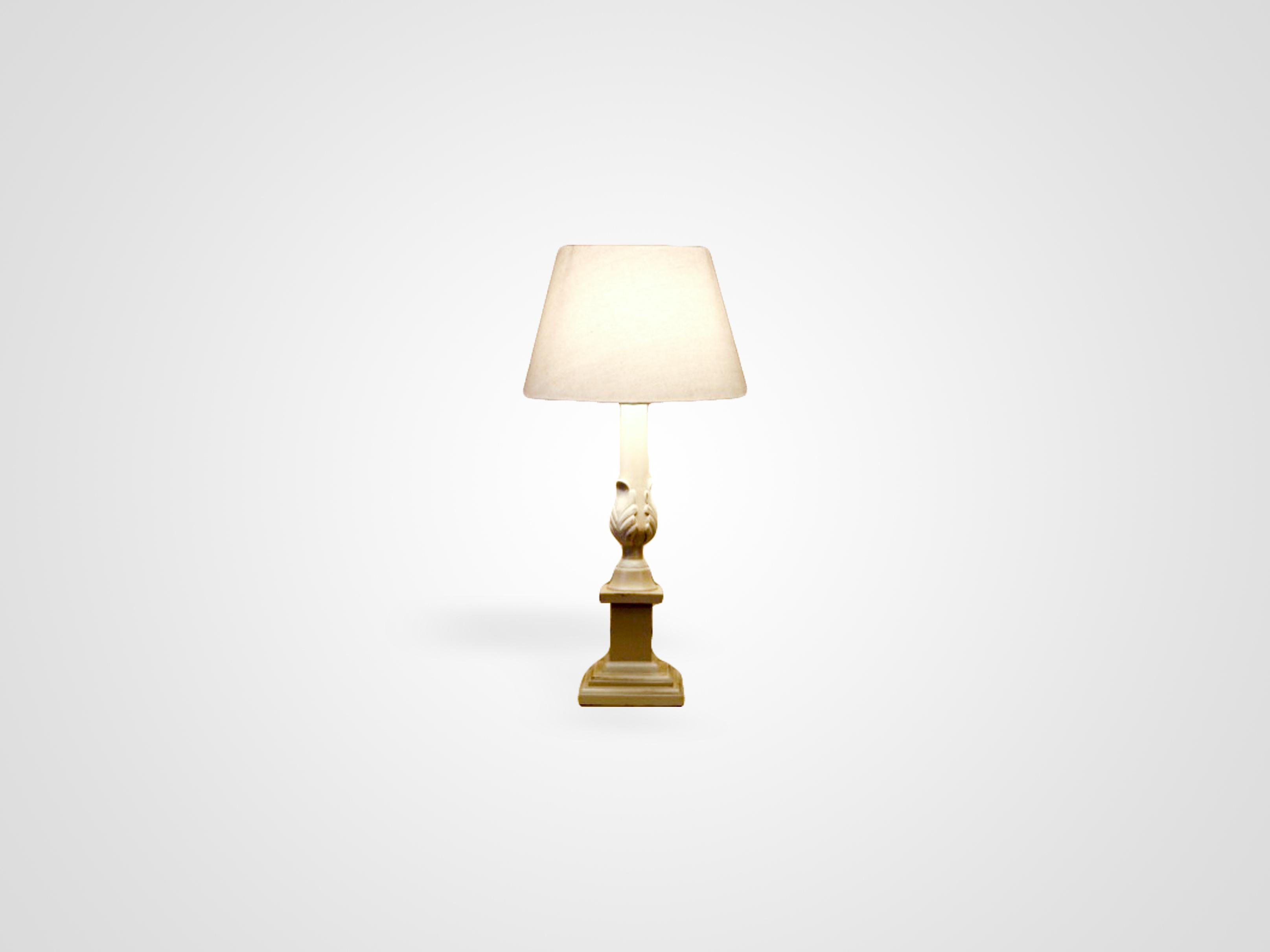 Купить Настольная лампа на резной ножке из дерева махагони, inmyroom, Индонезия