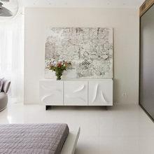 Фотография: Спальня в стиле Хай-тек, Квартира, Проект недели, 4 и больше, Более 90 метров, Елена Соловьева – фото на InMyRoom.ru