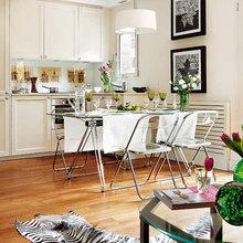 Фотография: Кухня и столовая в стиле Скандинавский, Малогабаритная квартира, Квартира, Дома и квартиры, Эргономика – фото на InMyRoom.ru