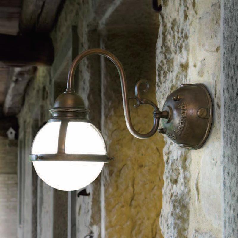 Купить Настенный светильник Aldo Bernardi Cimosa из металла бронзового цвета с патиной, inmyroom, Италия