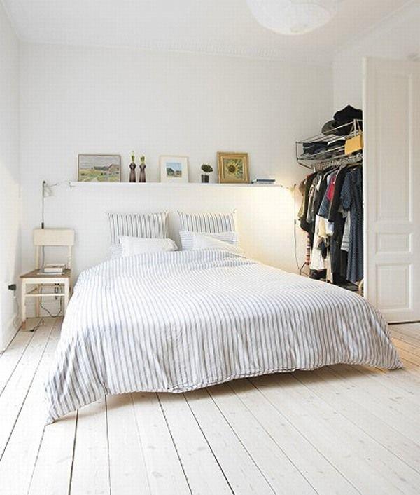 Фотография: Спальня в стиле Скандинавский, Декор интерьера, Декор дома, Цвет в интерьере, Белый, Эко – фото на InMyRoom.ru