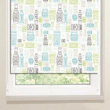 Стильные рулонные шторы: Узорчатые баночки