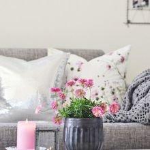 Фотография: Гостиная в стиле Скандинавский, Декор интерьера, Декор, весенний декор интерьера – фото на InMyRoom.ru