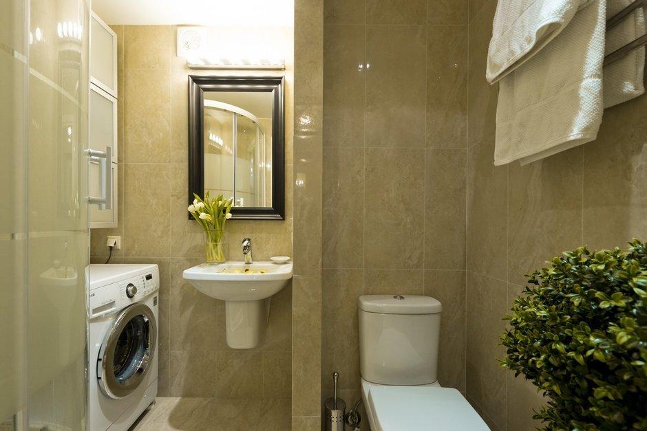 Фотография: Ванная в стиле Восточный, Современный, Малогабаритная квартира, Квартира, Дома и квартиры – фото на InMyRoom.ru