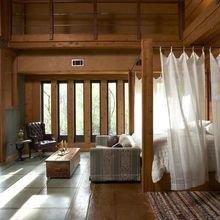 Фотография: Спальня в стиле Кантри, Гостиная, Малогабаритная квартира, Квартира, Дом, Планировки, Перепланировка – фото на InMyRoom.ru