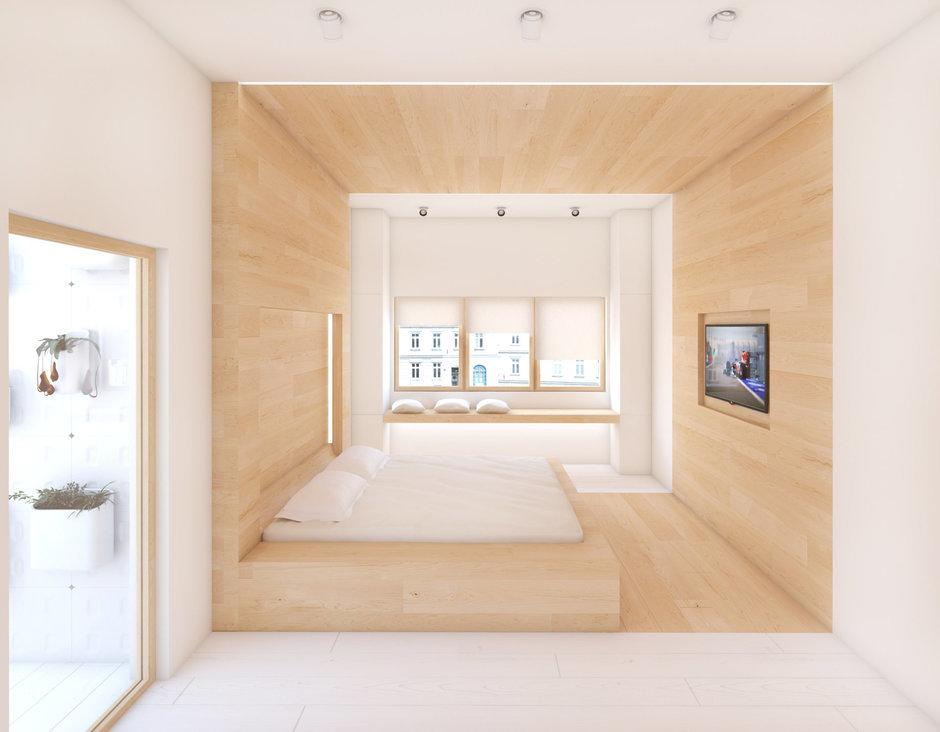 Фотография: Спальня в стиле Современный, Квартира, Дома и квартиры, Минимализм, Проект недели – фото на InMyRoom.ru