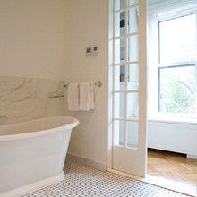 Фотография: Ванная в стиле Скандинавский, Дом, Дома и квартиры, Перепланировка, Нью-Йорк – фото на InMyRoom.ru