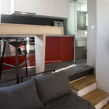 Фотография: Гостиная в стиле Современный, Лофт, Малогабаритная квартира, Квартира, Дома и квартиры – фото на InMyRoom.ru