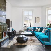 Фото из портфолио Яркий БИРЮЗОВЫЙ диван в интерьере – фотографии дизайна интерьеров на INMYROOM