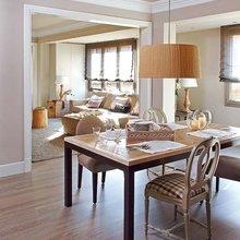 Фотография: Кухня и столовая в стиле Кантри, Квартира, Цвет в интерьере, Дома и квартиры, Бежевый – фото на InMyRoom.ru