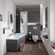 Фото из портфолио Ванные комнаты в условиях ограниченного пространства – фотографии дизайна интерьеров на InMyRoom.ru