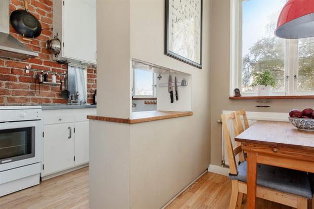 Фотография: Кухня и столовая в стиле Скандинавский, Малогабаритная квартира, Квартира, Дома и квартиры – фото на InMyRoom.ru